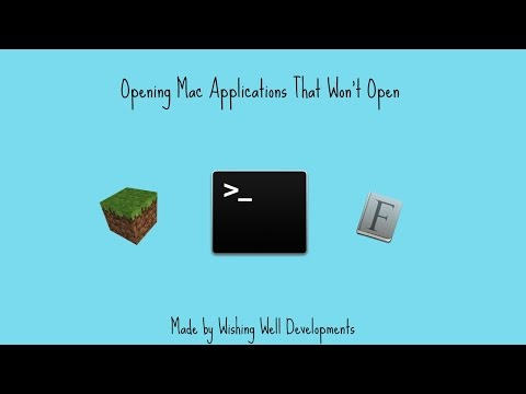 Opening Mac Applications That Won't Open