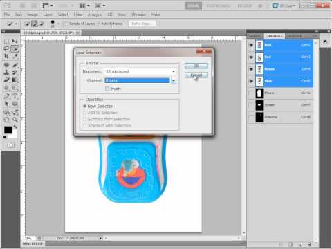 Saving and Loading Alpha Channels from Selections in Photoshop CS5