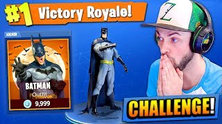 The BATMAN CHALLENGE in Fortnite: Battle Royale!