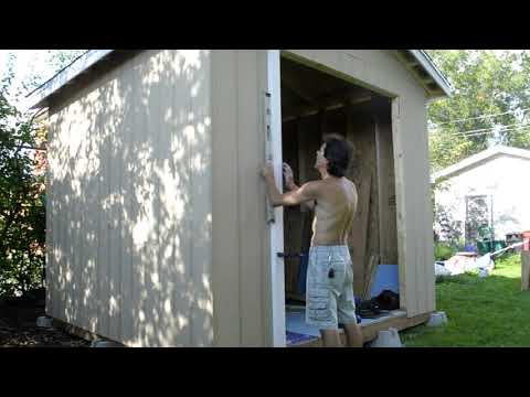 Amateur Shed Build Part 10 Shed Doors