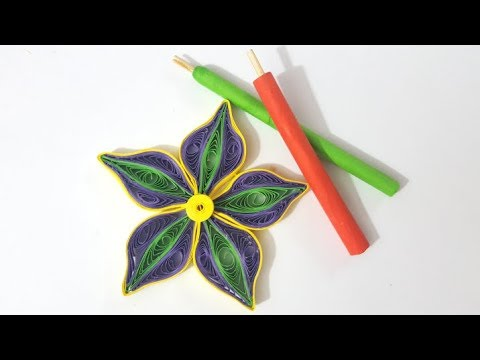 How to make quilling tool at home - Slotted Tool