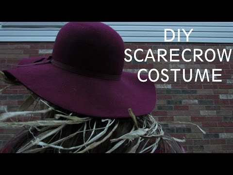 Last minute DIY Scarecrow Costume!