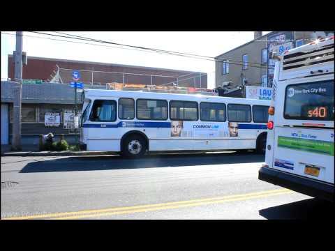 NYCTA Bus: S53 / S40 / S90 LTD at Richmond Terrace & Park Ave. (Orion 5 & Nova LFS)