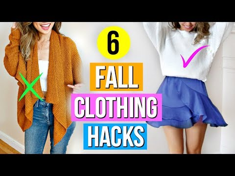 6 Fall to Winter Clothing Hacks EVERY Girl Must Know!