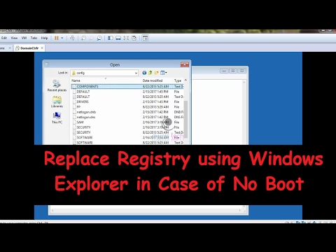 No Boot Troubleshooting | Replace Registry from Explorer in No Boot