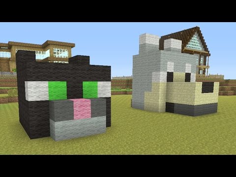Minecraft Tutorial: How to make a EASY! Dog and Cat House!