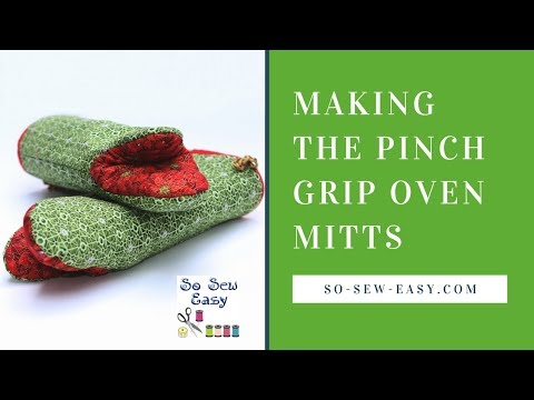 Sewing the Pinch Grip Oven Mitts: a fun and easy for beginners.