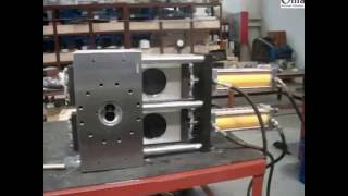 GMACH double plate four working position continuous  screen changer testing video