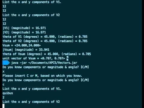 Vector Calculator Program