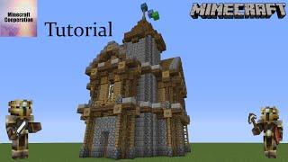 Minecraft MITTELALTER WOHNHAUS Lets Build Tutorial Großes - Minecraft einfaches mittelalter haus bauen
