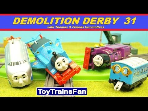 Trackmaster Demolition Derby #31  - Thomas & Friends accidents. Tomek i Przyjaciele zderzenia