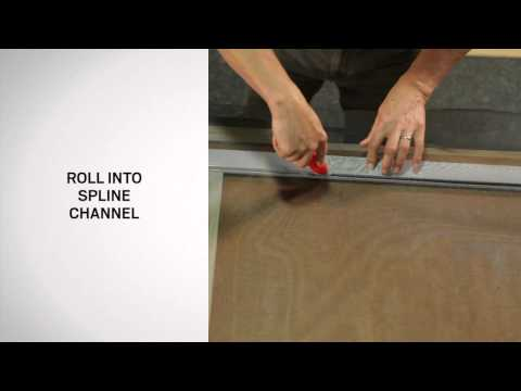 Rescreening an Andersen® Patio Door Insect Screen