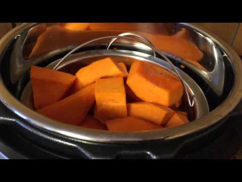 Steaming Winter Squash or Pumpkin in an Instant Pot Electric Pressure Cooker