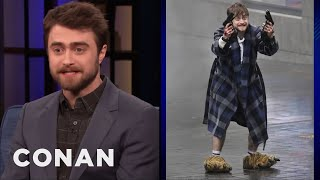 Paparazzi Always Catch Daniel Radcliffe In Compromising Positions - CONAN on TBS