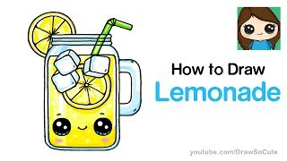 By Draw So Cute · How To Draw Lemonade Easy And Cute