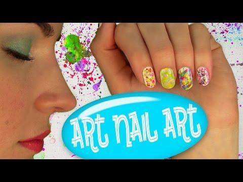 Art Nail Art! Nail Tutorial for 5 Easy Nail Art Designs. No Tools!