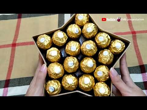 【DIY Craft#3】 Flower Gift Box * with Ferrero Rocher Chocolate
