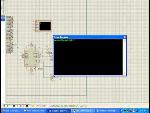 Serial communication from matlab(PC)  to 8051 in  proteus simulation software!!