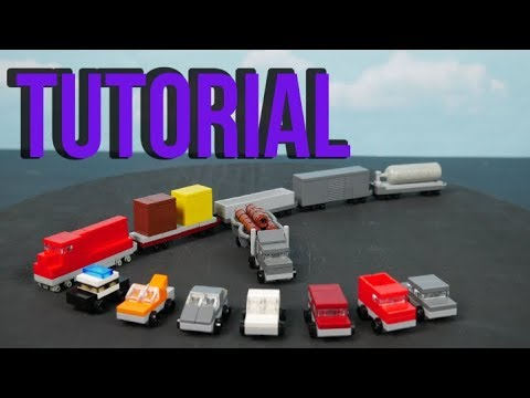 LEGO Micro Cars, Truck, and Train Tutorial