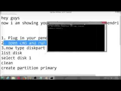 how to make pendrive bootable through Command prompt