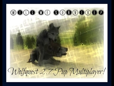 Raising pups in Multiplayer! | Checking out Wolfquest 2.7 | WolfQuest