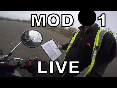 MOD 1 2017 / 2018 - UK Motorbike Test - Live Footage with Commentary (1/2)