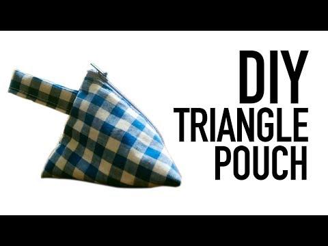 DIY SEWING TRIANGLE POUCH | MENJAHIT TAS SEGITIGA