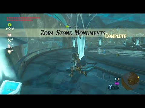 Zelda: Breath of the Wild | Zora Stone Monuments Side Quest - Lanayru Tower Region