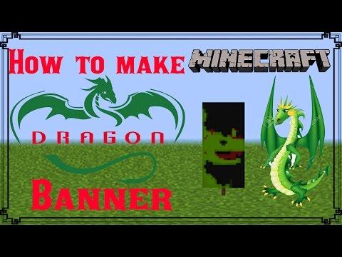 Minecraft | How to make Dragon Banner | Mangoman