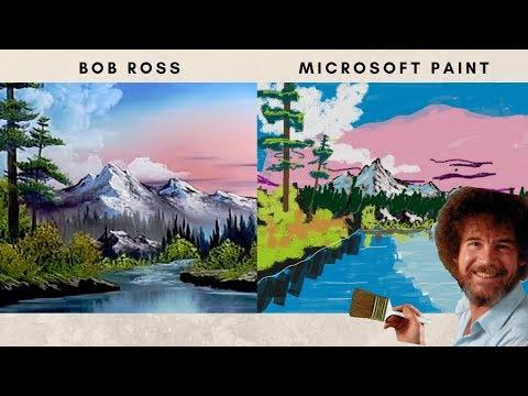 Can I BOB ROSS Using MICROSOFT PAINT!?