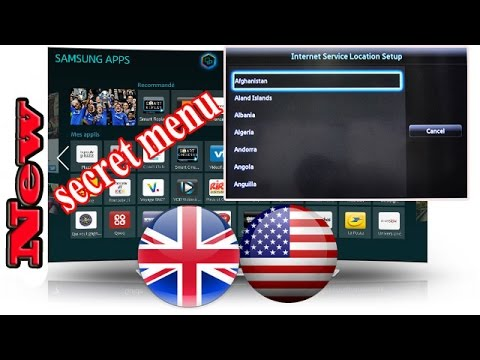 How to Change Region on a Samsung Smart TV To UK / USA unlock all Features