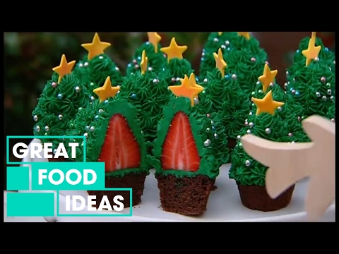 Make Your Own Strawberry Christmas Tree Cupcakes | Food | Great Home Ideas