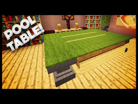 Minecraft - How To Build A Pool Table