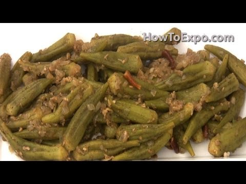 Indian Okra Saute Recipe Video On How To Saute Okra Indian Style