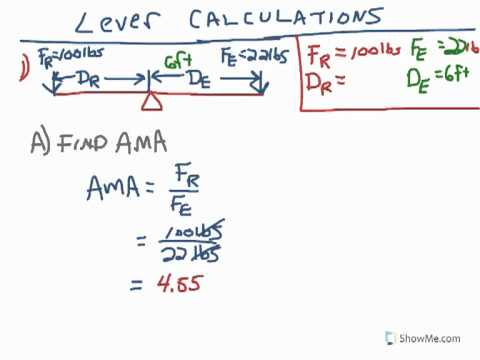 POE - First Class Lever Calculation