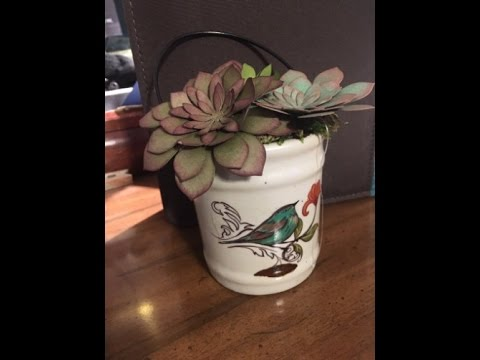 Stampin' Up! Oh So Succulent Flower Pot