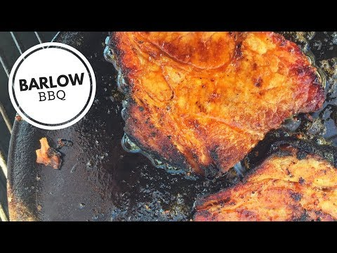 Gochujang BBQ Pork Steaks on the Weber Kettle Grill with the Slow N' Sear