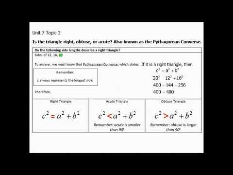 9.1c Pythagorean Converse