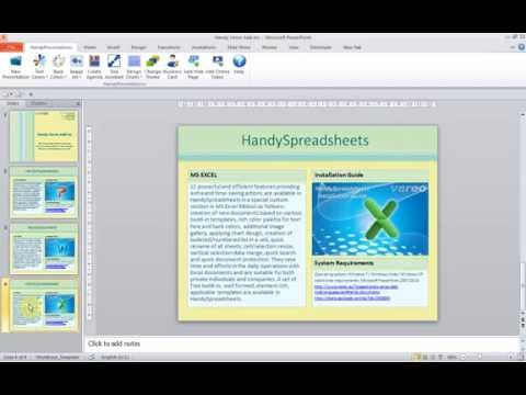 HandyPresentation Create Agenda Feature