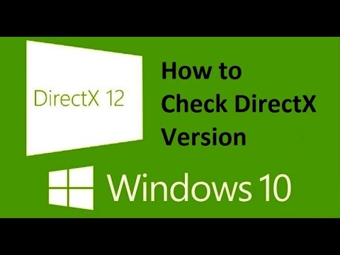 DirectX Windows 10 || Check version!! - Howtosolveit