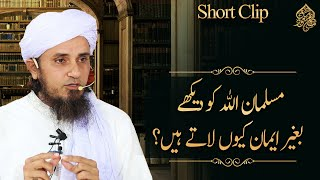 Musalman Allah Ko Dakhay Bina Eman Qu Latay Hain?   Mufti  Tariq Masood