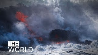 Lava bomb filmed hurtling through roof of boat, injuring tourists in Hawaii