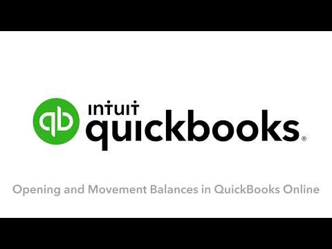 Setting up client Opening and Movement Balances in QuickBooks Online