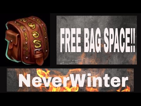 Tips/Unlimited Storage in NeverWinter Tips/Tricks/LifeHacks For Neverwinter! Cheap Bag Space!!