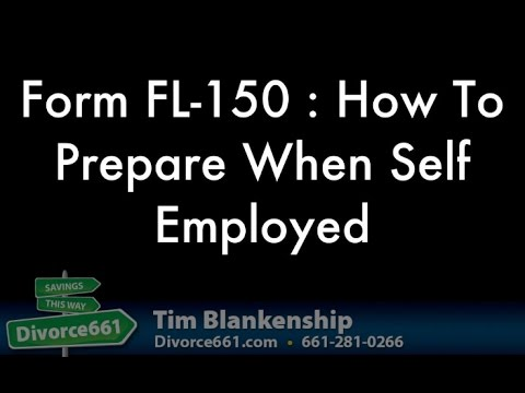 FL-150 How To Complete If Self Employed