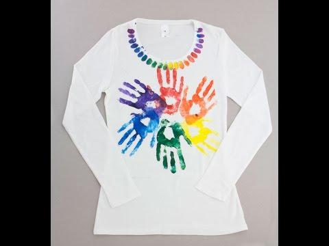 Project: Kids Hand Printed T-Shirt Design – Derivan Fabric Art Paint