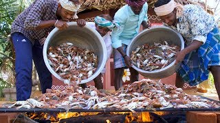 WOW! 1000 Crabs Cooking | King of Grilled Crabs Village Food Recipe | Primitive Village Cooking