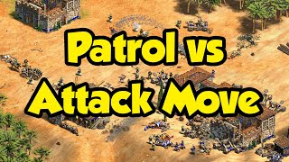 When Attack Move is better than Patrol in Definitive Edition (AoE2)