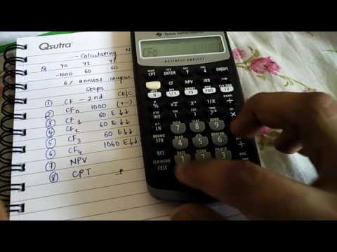 CFA- How to calculate NPV(Net Present value)using the Texas Instruments BA 2 plus calculator