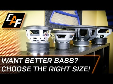 Want BETTER bass? Selecting subwoofer size for a ported box - CarAudioFabrication
